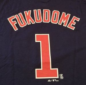 Men's NEW Cubs Fukudome Majestic GAME DAY Tee
